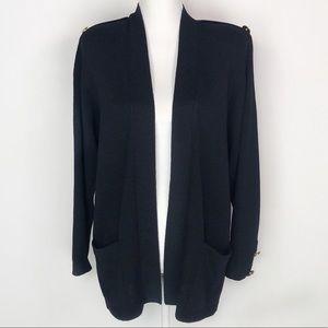 St. John Sportswear Black Knit Cardigan